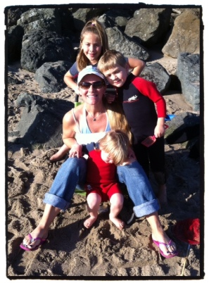 Me and my kids at one of our favorite places....the beach
