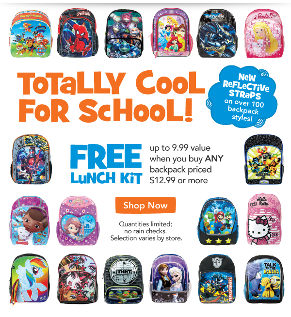 Toys R Us School Supplies Backpacks